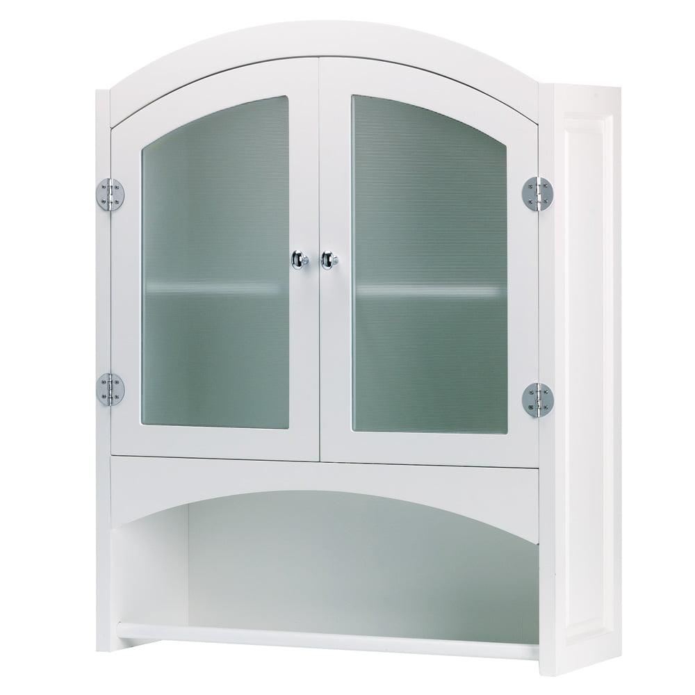 Bathroom Cabinet, White, Glass Door Cabinet, Modern Wood Design ...