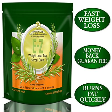 E-Z Detox Diet Tea: Fat Burner. Appetite Suppressant. Fast Weight Loss and Body (The Best Detox Tea To Lose Weight)
