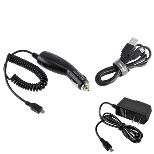 Insten Car+Home Wall Travel Charger+USB Data Charging Cable For Smartphone Cell phone Samsung HTC LG Blackberry Motorola