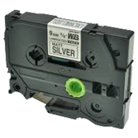 "Zoomtoner Compatible pour Brother PT2200 BROTHER P-Touch Label Tape TZE-M921 9mm (0.375"") Noir on Silver - image 1 de 1"