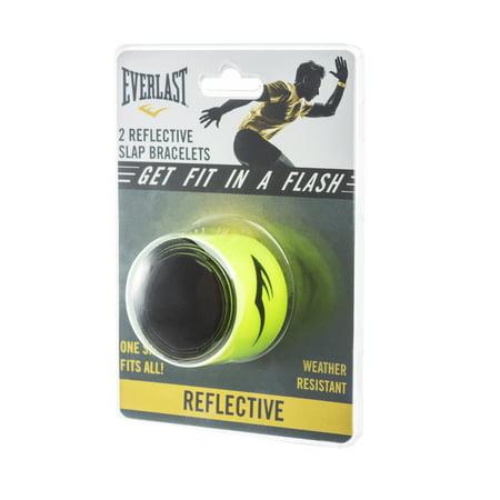 Everlast Yellow Reflective Slap Bracelet 2 pack (Slap Braclet)