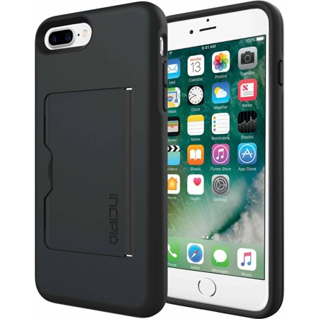 Incipio Stowaway Case for Apple iPhone 6 Plus, iPhone 6S Plus, and iPhone 7 Plus, (Apple Iphone 6 Leather Case Black Mgr62zm A)