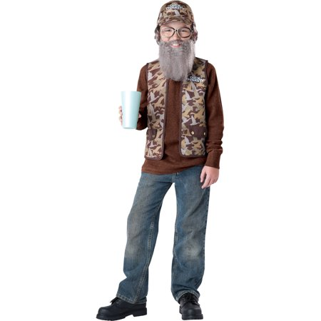Duck Hunter Costume Halloween (Duck Dynasty Uncle Si Boys Child Halloween Costume, One Size, S)