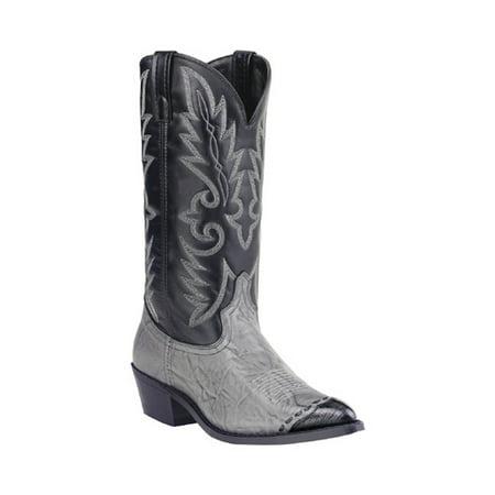 Men's Classic Cowboy Lizard Wingtip 13 Black Lizard Cowboy Boots