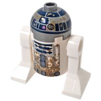 LEGO Star Wars R2-D2 Minifigure [with Dirt Stains] [No Packaging]