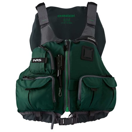Green Life Vest (NRS Adult Chinook Fishing Boating PFD Small/ Medium Safety Life Jacket,)