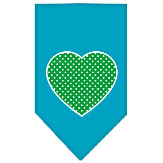 Screen Mirage Pet Products 66-100 SMTQ -cologiste suisse Dot coeur Imprimer Bandana Turquoise Petit - image 1 de 1