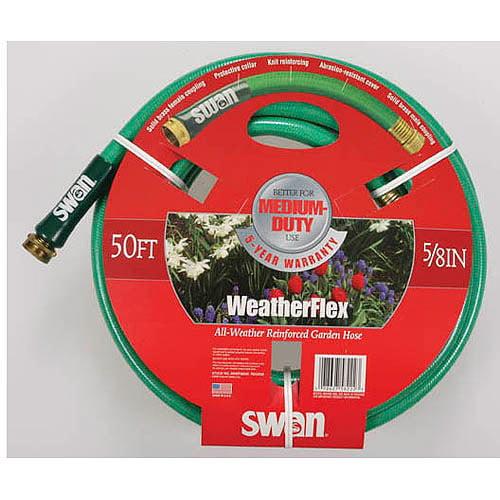 Swan House SNWF58050 50' WeatherFlex All Weather Reinforced Garden Hose