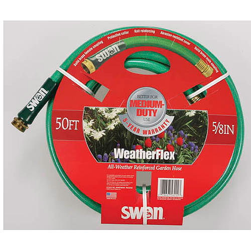 Swan House SNWF58050 50' WeatherFlex All Weather Reinforced Garden Hose