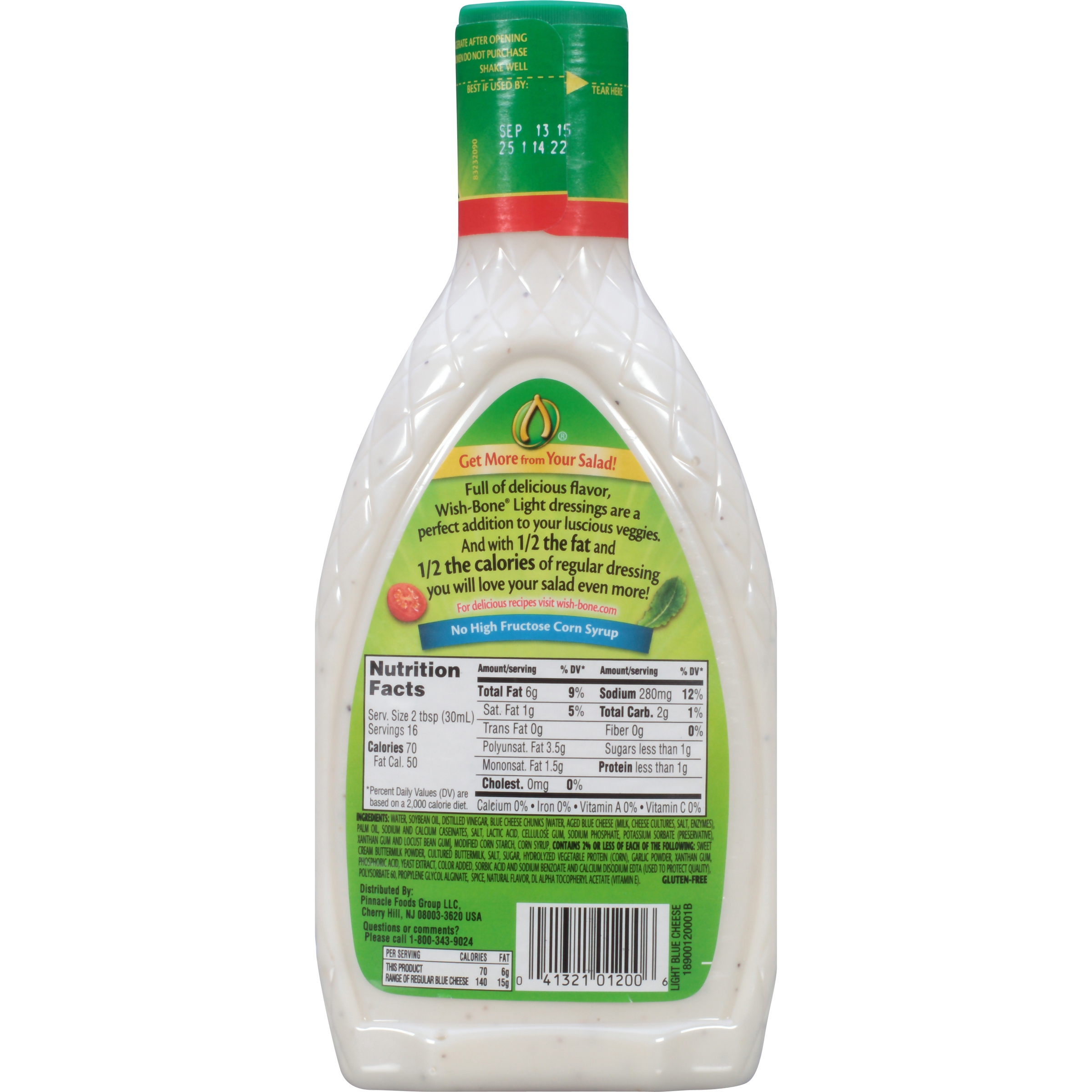 Sodium in blue cheese salad dressing