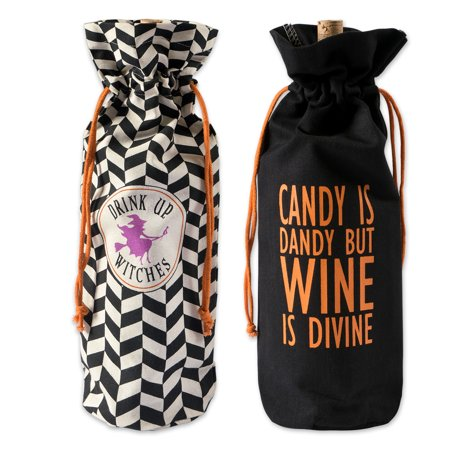 14 Year Old Halloween Party Ideas (DII Cotton Halloween Reusable Drawstring Gift Bag, 6