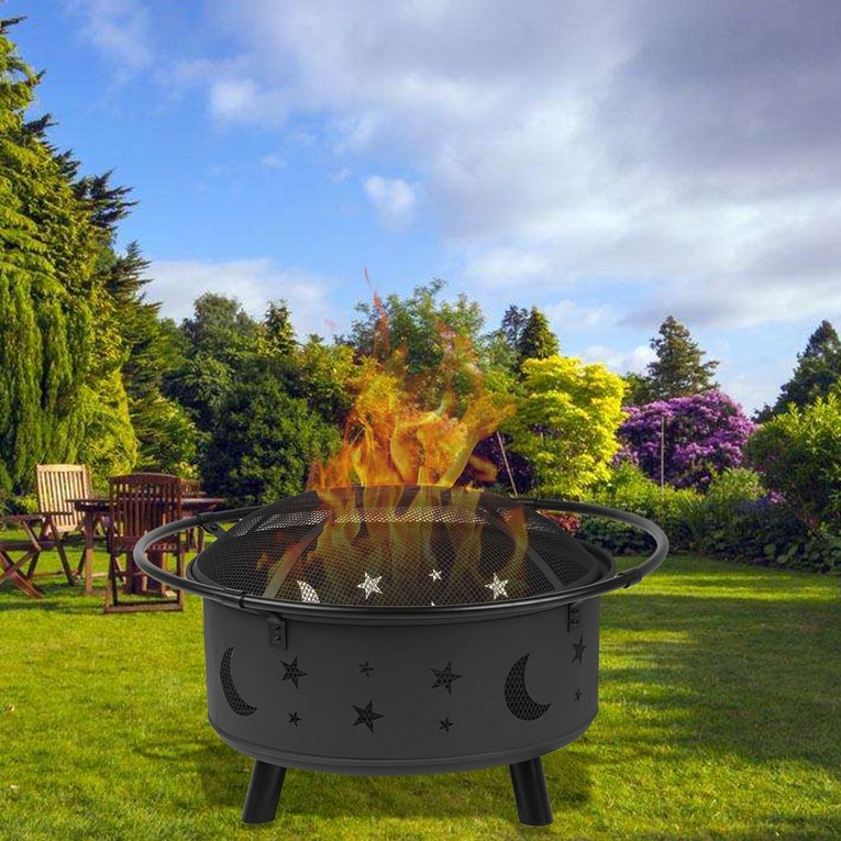 Outdoor Multifunction Fireplace Backyard Wood Burning Heater Steel Bowl Patio Firepit... by TRY