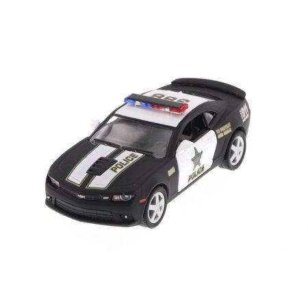 2014 Chevy Camaro Police, Black - Kinsmart 5383DP - 1/38 Scale Diecast Model Toy Car (Brand New, but NOT IN BOX) Chevy Camaro Glove Box