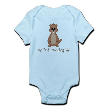 CafePress - My First Groundhog Day! Body Suit - Baby Light Bodysuit