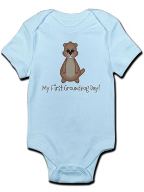 3a004d50a Product Image CafePress - My First Groundhog Day! Body Suit - Baby Light  Bodysuit