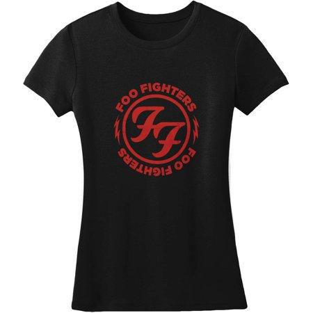 76d691aa9179 Foo Fighters - Foo Fighters Logo Red Circle Girls Jr Black - Walmart.com