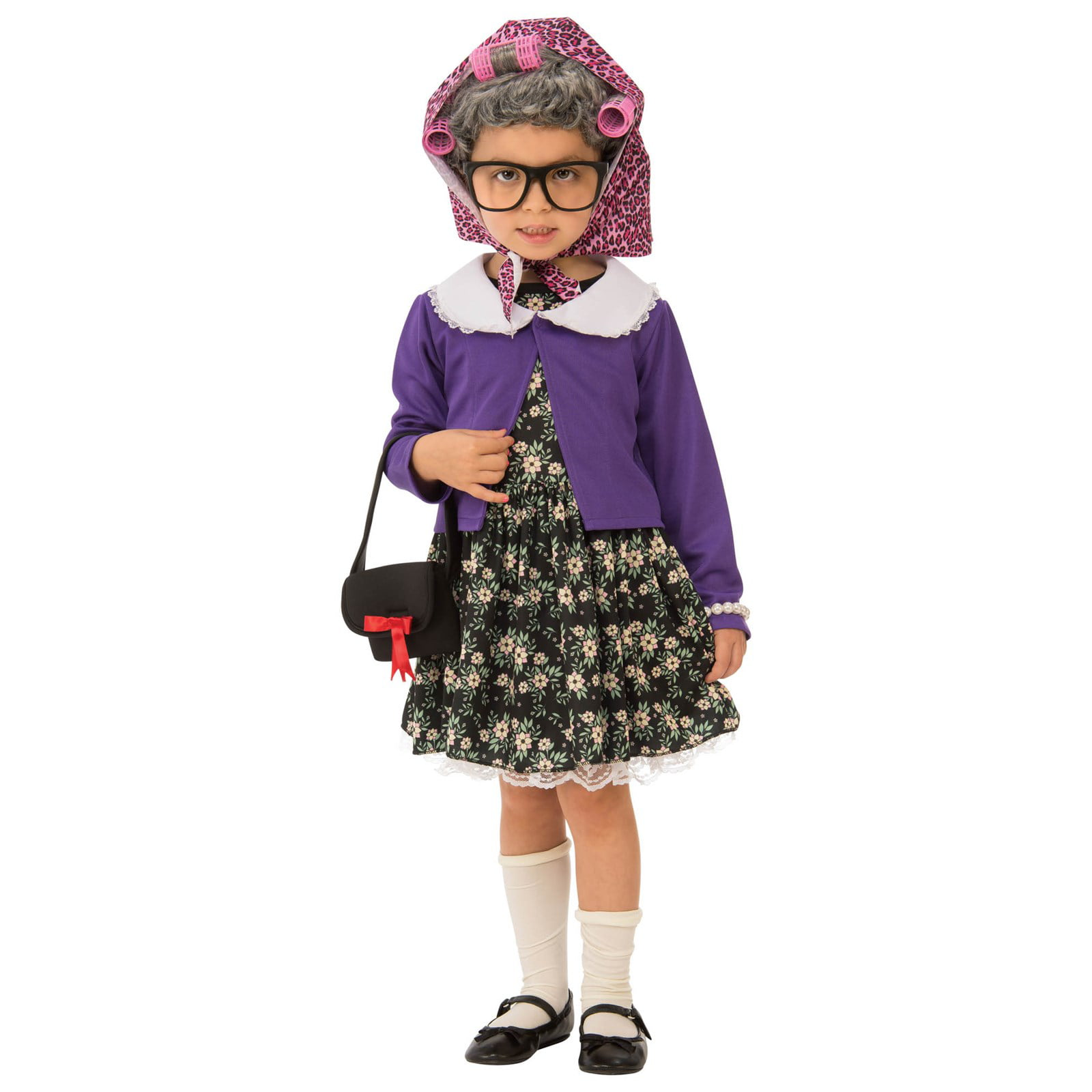 Old Lady Kit Grandma Child Costume Set