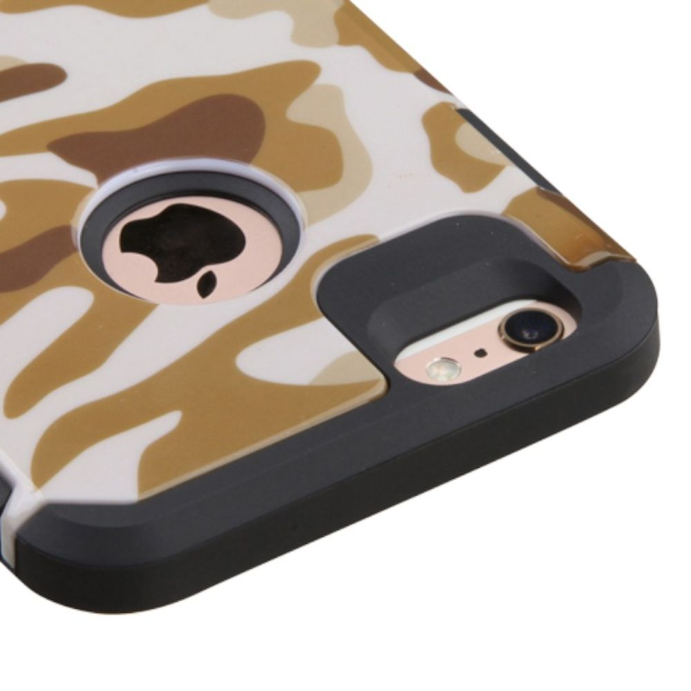 Insten Camouflage Hard Dual Layer Rubberized Silicone Cover Case For Apple iPhone 6 Plus/6s Plus - Brown/Black - image 2 de 3