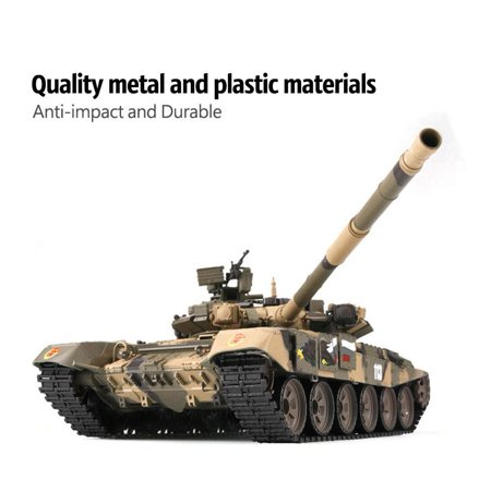 Ymiko Anti-impact 1/16 Upgraded Metal Russian T90 RC Tank Model Tracks Sprockets 3938, RC Model Tank, Tank Model ()