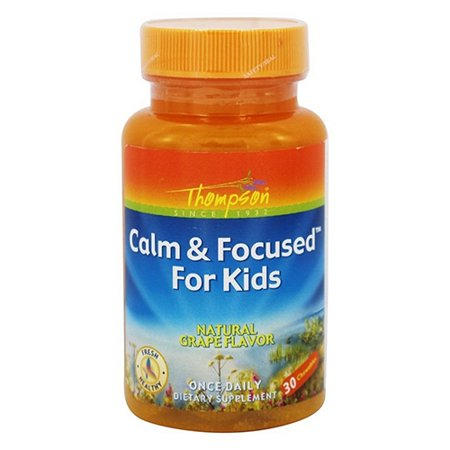 Thompson nutritional products Calm & Focused For Kids Grape, 30 chewable