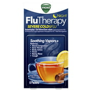 Vicks Flutherapy Cold And Flu Medicine, Night Hot Drink, 6 Ct