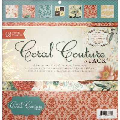 Diecuts With A View Coral Couture Paper Stack