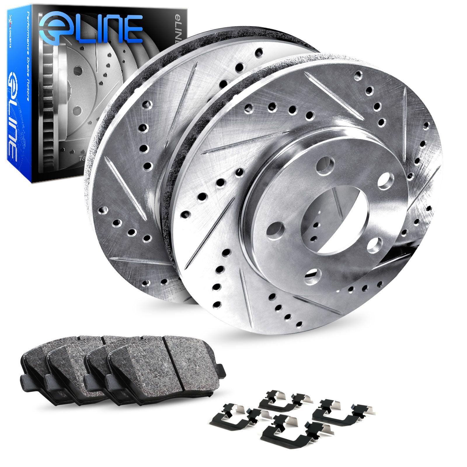 Rear eLine Drilled Slotted Brake Rotors /& Ceramic Brake Pads Jeep Grand Cherokee