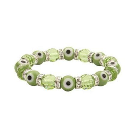 Image of Alexander Kalifano BLUE-BEE-09 Evil Eye Gorgeous Glass Bracelets - Peridot