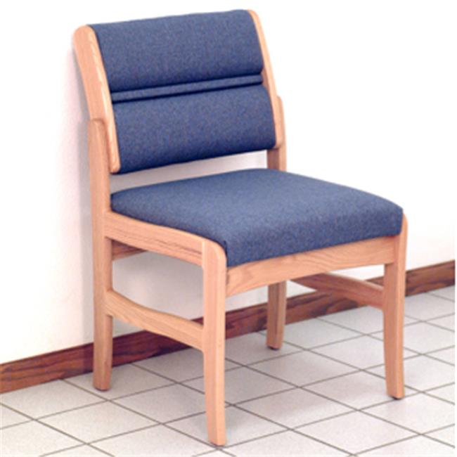 Wooden Mallet DW4-1DMOAW Valley Armless Guest Chair in Medium Oak - Arch Wine