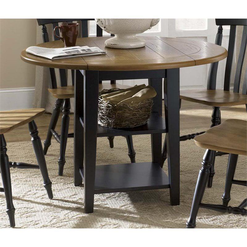 Liberty Furniture Al Fresco II Drop Leaf Dining Table in Black