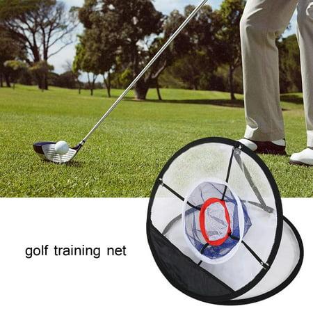 Garosa Golf Training Accessory,Golf Ball Net,Black Nylon Mesh Folding Golf Chipping Net Balls Collector Bracket Bag Training Accessory - image 6 of 7