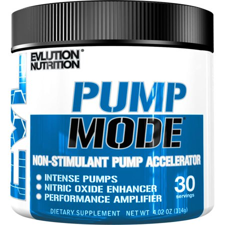 Evlution Nutrition Pump Mode Pre Workout Powder, 30
