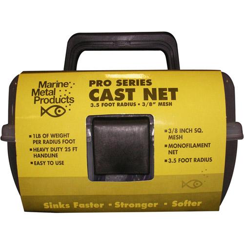 "Marine Metal Monofilament Cast Net with 3/8"" Mesh"