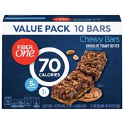 Fiber One 70 Calories Chewy Granola Bars, Chocolate Peanut Butter, 10 Ct Value Pack, 8.2 Oz