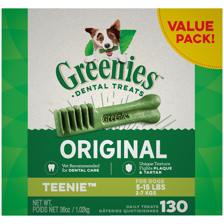 GREENIES Original TEENIE Dental Dog Treats, 36 oz. Pack (130 Treats) by Mars Petcare