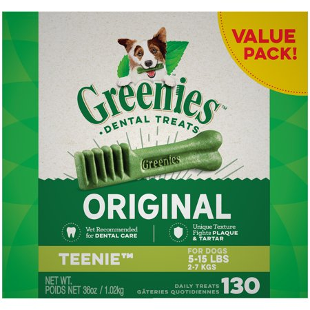Greenies Original Teenie Dental Dog Treats, 36 oz. Pack (130 Treats) (Easy Halloween Dog Treats)