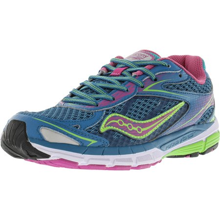 Saucony Girl's Ride 8 Turquoise Ankle-High Running Shoe - 5M