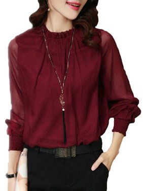7c87f2df4b7 Product Image OUMY Women Chiffon OL Shirt Formal Casual Business Blouse Tops