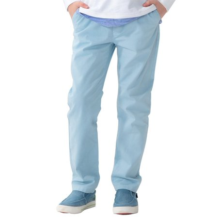Leo&Lily boys Kids 100% Cotton Twill Elastic Waist Regular Fit Pants Trousers