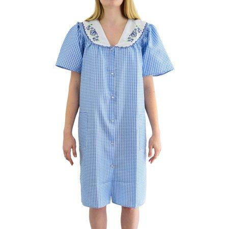 Blend Womens Dress - EZI Women's 'Esther' Cotton Blend House Dress