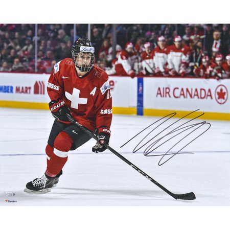 (Nico Hischier New Jersey Devils Fanatics Authentic Autographed 16