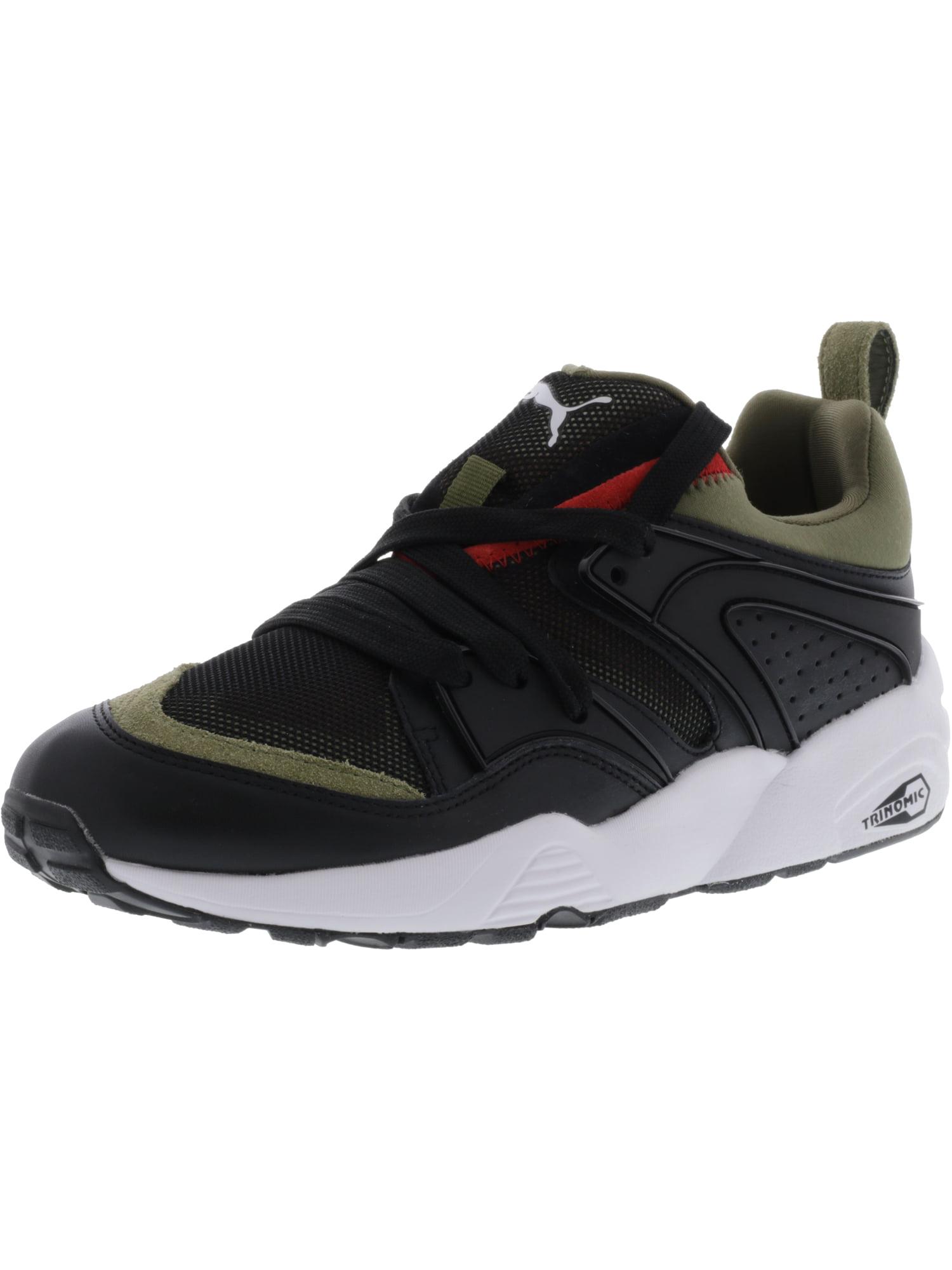 Puma Men's Blaze Of Glory Streetblock Black / Burnt Olive Ankle-High Canvas Fashion Sneaker - 8M