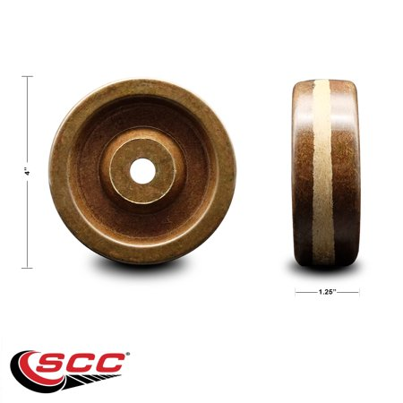 4 x 1 25 High Temperature Phenolic Wheel Only 1 2 Bore 600 lbs Capaci