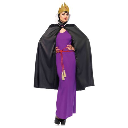 Leg Avenue Women's Deadly Dark Queen Villain Halloween Costume - Funny Villain Costumes