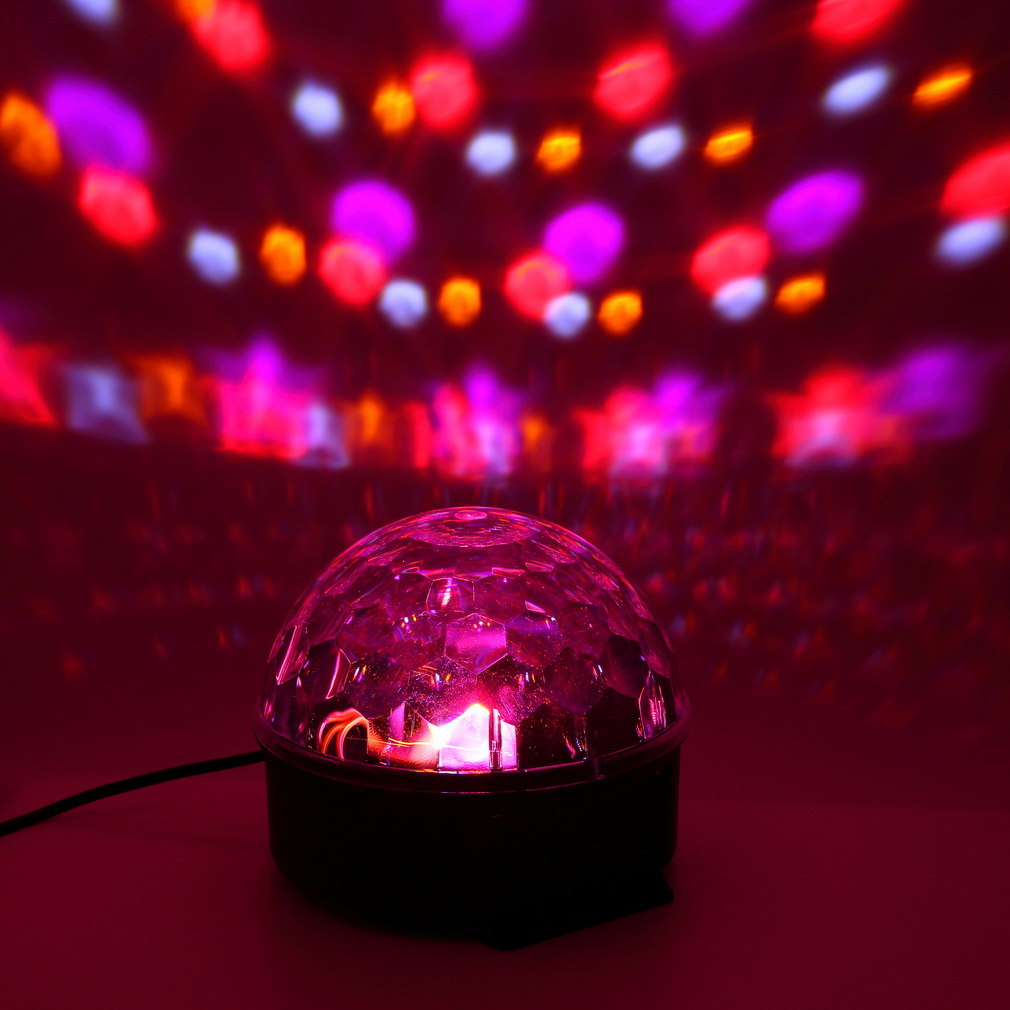 2017 6 Colors LED Crystal Magic Ball Effect Light for Disco DJ Stage Party by YKS
