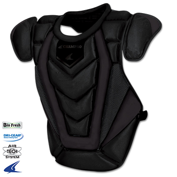 Pro Plus Catcher Chest Protector- Adult 17.5''L, ONYX