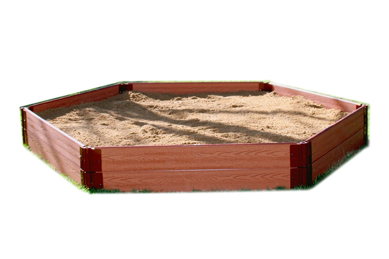 """Frame It All One Inch Series 7' x 8' x 11"""" Composite Hexagon Sandbox Kit by Frame It All"""
