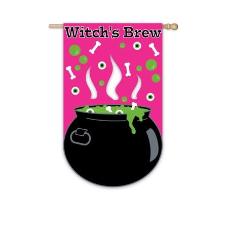 Witchs Brew Garden Flag Size 18 H X 125 W Approximate Dimensions Are By Evergreen From USA