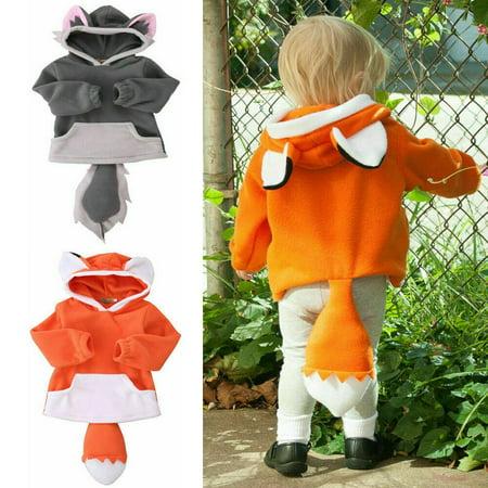 Kid Polar Fleece Animal Cartoon Hoodie With Ears Tails Hooded Coat Jacket Costume - Ringmaster Tails Jacket