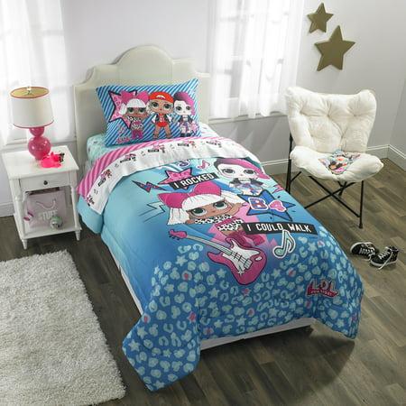 (L.O.L. Surprise! Kids Bedding, Bed in a Bag Set, Blue or Pink)
